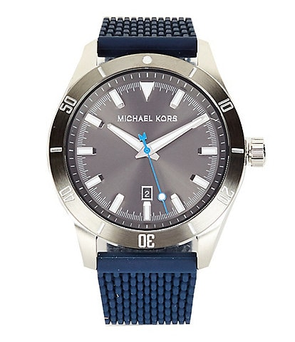 Michael Kors Layton Three - Hand Navy Silicone Mesh Watch