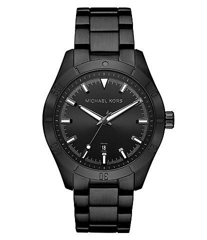 Michael Kors Layton Three-Hand Black IP Watch