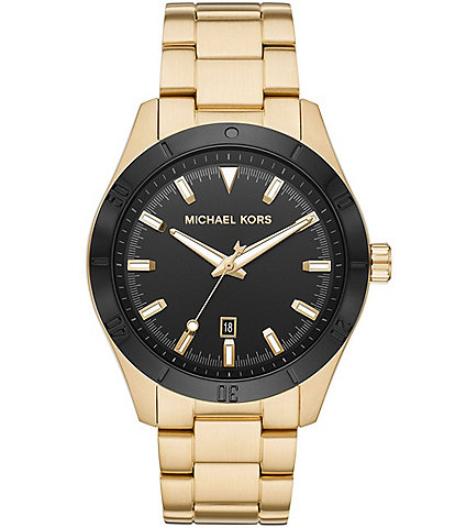 Michael Kors Layton Three-Hand Gold Tone Watch