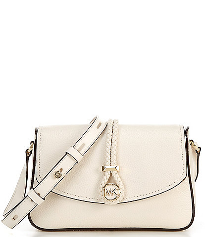 Michael Kors Lea Medium Pebble Leather Flap Messenger Bag