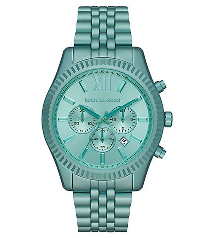 Michael Kors Lexington Chronograph Aqua Aluminum Watch