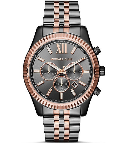 Michael Kors Lexington Chronograph Stainless Steel Bracelet Watch
