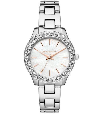 Michael Kors Liliane Three-Hand Stainless Steel Watch