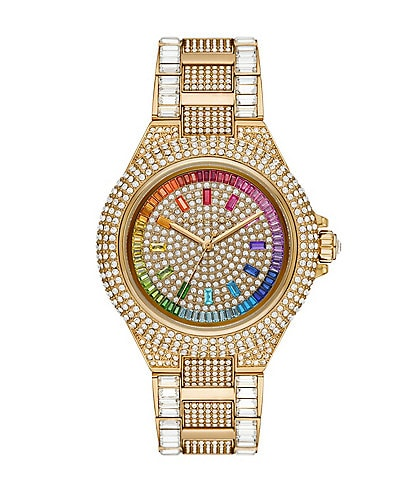 Michael Kors Limited-Edition Camille Pave Gold-Tone Stainless Steel Watch