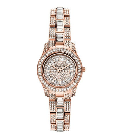 Michael Kors Limited Edition Runway Two-Hand Rose Gold-Tone Stainless Steel Watch