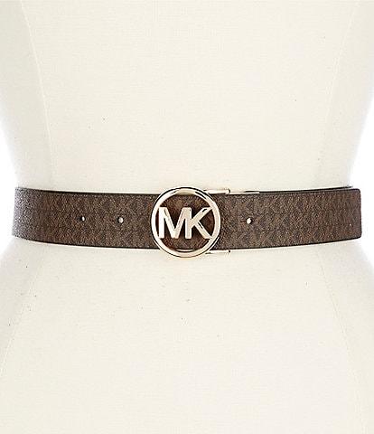MICHAEL Michael Kors Reversible Logo Signature Buckle PVC Belt