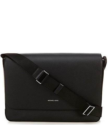 Michael Kors Mason Explorer Leather Messenger Bag
