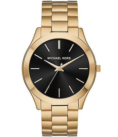 0f4b67f947f7d Michael Kors Men s Slim Runway Gold-Tone Watch