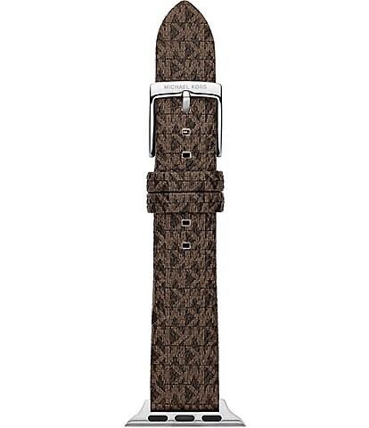 Michael Kors Micro Logo Brown PVC 38/40mm Apple Watch® Strap