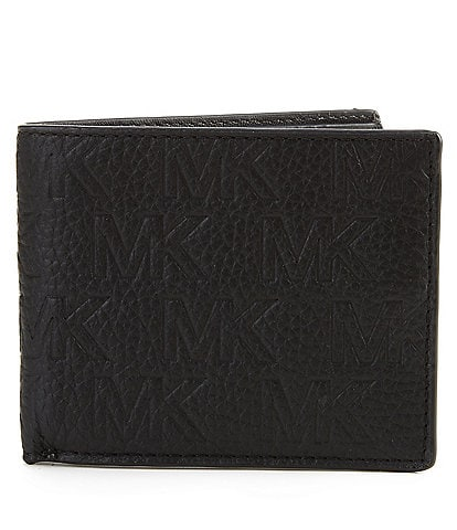 Michael Kors MK Embossed Pebble Mix Slim Billfold Wallet