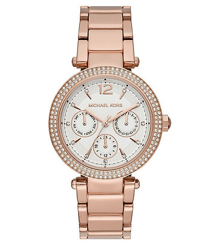 Michael Kors Parker Multifunction Rose Gold-Tone Stainless Steel Watch