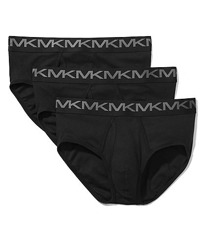 Michael Kors Performance Cotton Low Rise Briefs 3-Pack