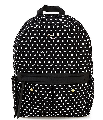 Michael Kors Prescott Polka Dot Nylon Medium Backpack