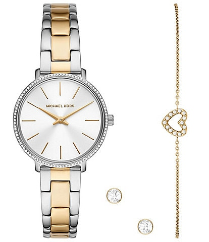 Michael Kors Pyper Two-Tone Watch and Jewelry Gift Set