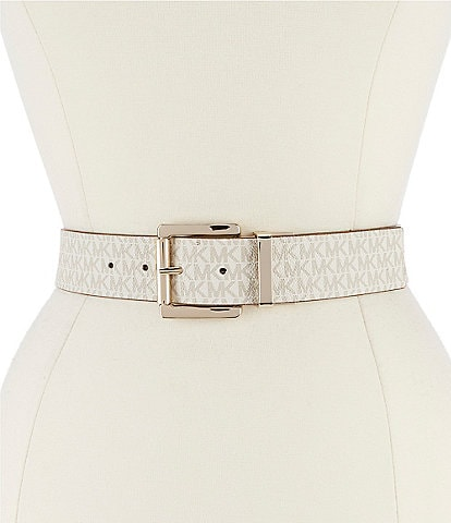 MICHAEL Michael Kors Reversible Signature Logo Belt