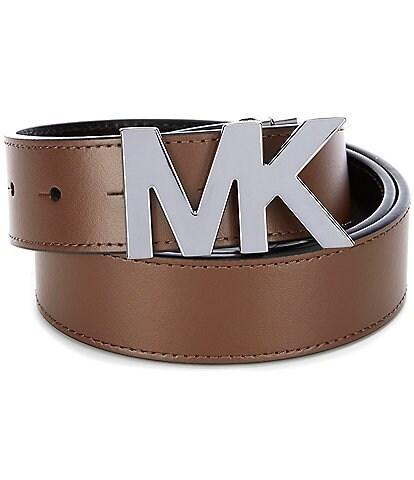 Michael Kors Reversible MK Buckle Leather Belt