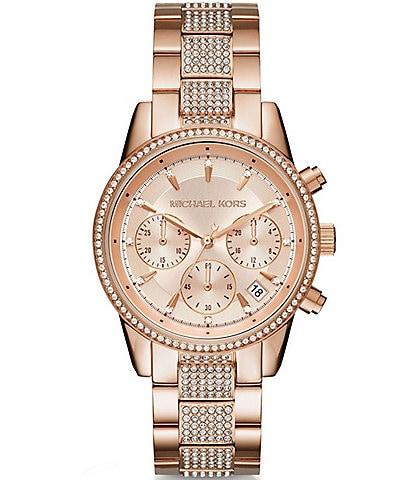 Michael Kors Ritz Chronograph & Date Bracelet Watch