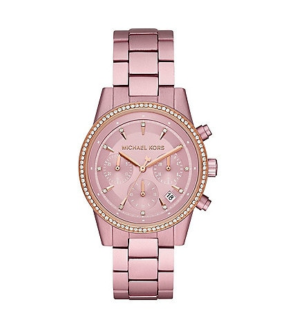 Michael Kors Ritz Chronograph Pink Aluminum Watch