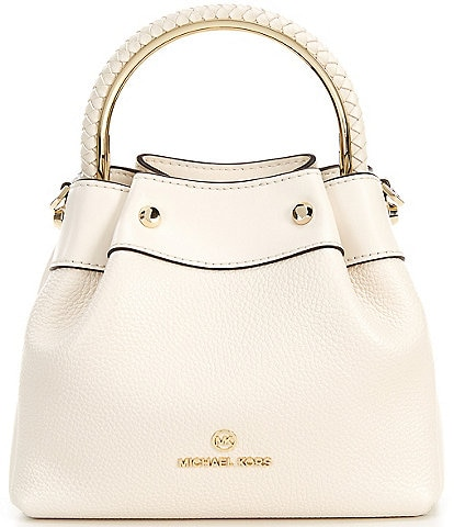 Michael Kors Rosie Small Pebble Leather Ring Bucket Shoulder Bag