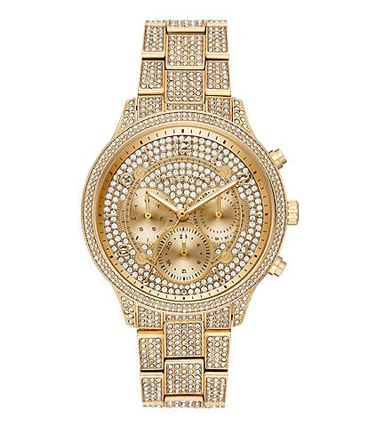Michael Kors Runway Chronograph Gold-Tone Stainless Steel Watch