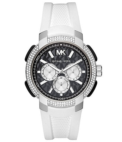 Michael Kors Sidney Multifunction White Silicone Watch