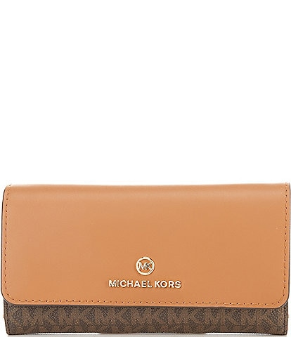 Michael Kors Signature Jet Set Charm Large Trifold Wallet