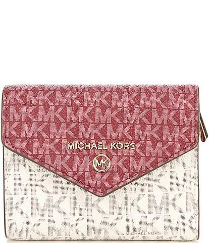 Michael Kors Signature Jet Set Charm Medium Envelope Tri-Fold Wallet
