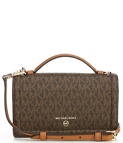 Michael Kors Signature Jet Set Charm Top Handle Phone Crossbody Bag