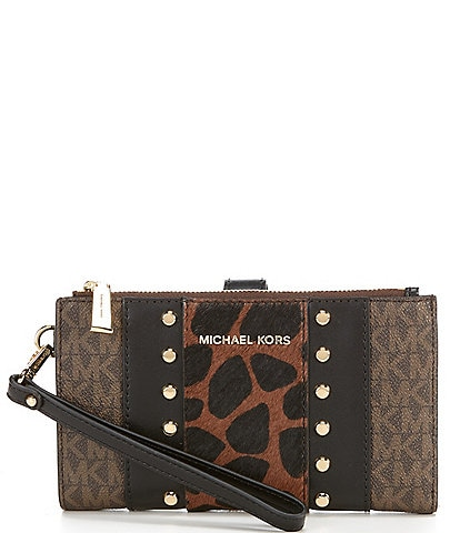 Michael Kors Signature Jet Set Double Zip Wristlet