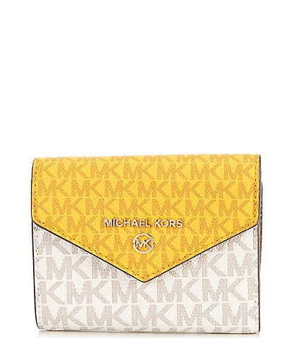 Michael Kors Signature Jet Set Medium Envelope Trifold Wallet