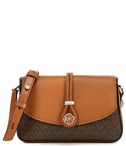 Michael Kors Signature Lea Medium Flap Messenger Bag