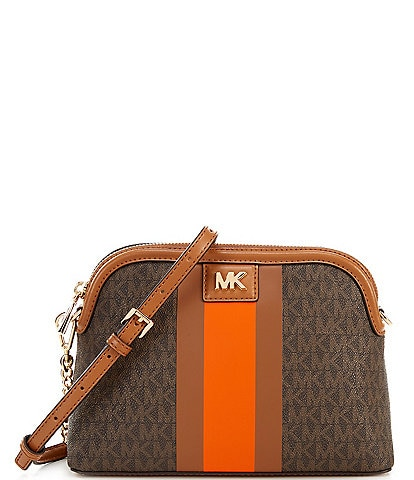 Michael Kors Signature Mott Large Zip Dome Crossbody Bag