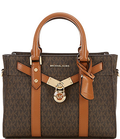 Michael Kors Signature Nouveau Hamilton Small Satchel Bag