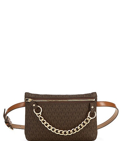 Michael Kors Signature Pull Chain Belt Bag