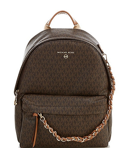 Michael Kors Signature Slater Medium Backpack Bag