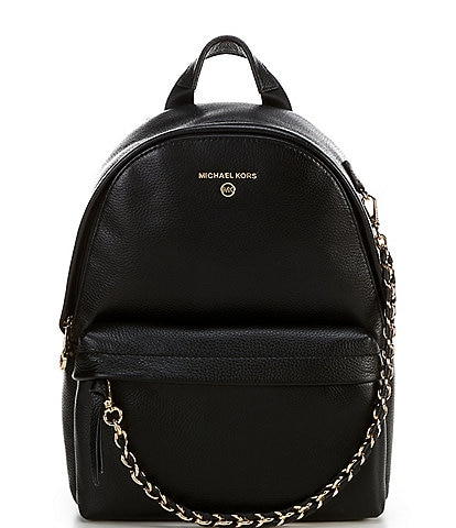 Michael Kors Slater Medium Leather Chain Backpack