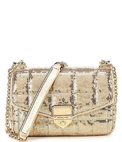 Michael Kors Soho Sequin Small Chain Shoulder Bag