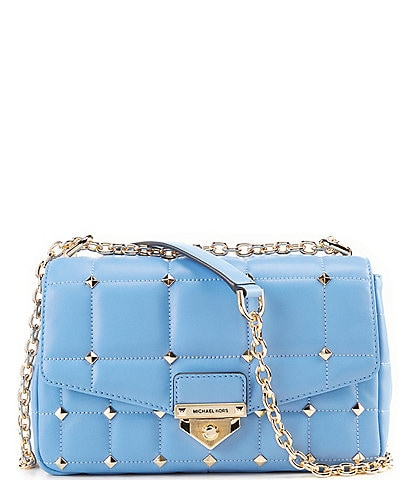 Michael Kors Soho Studded Leather Large Chain Strap Shoulder Bag