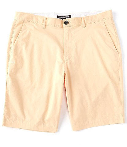 Michael Kors Solid Washed Poplin 9#double; Inseam Shorts