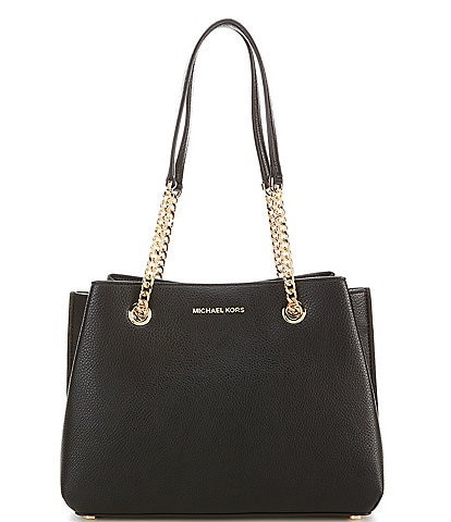 Michael Kors Teagan Pebble Leather Large Drop Satchel Bag