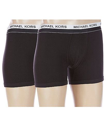 Michael Kors Ultimate Rib Basic Boxer Briefs 2-Pack