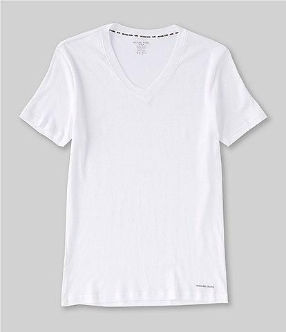 Michael Kors Ultimate Rib Basic V-Neck Tees 2-Pack