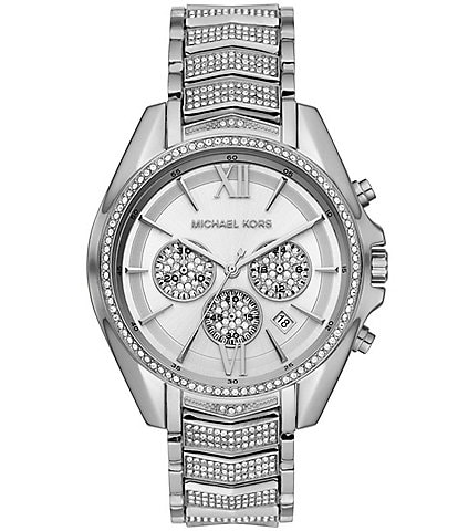 Michael Kors Whitney Stainless Steel Glitz Chronograph Bracelet Watch
