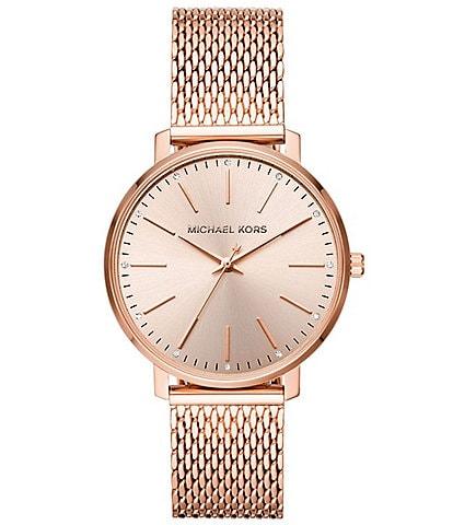 Michael Kors Women's Pyper Three-Hand Rose Gold-Tone Stainless Steel Watch