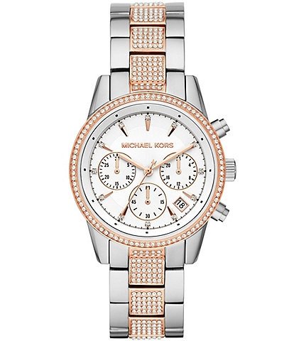 Michael Kors Women's Ritz Chronograph Two-Tone Stainless Steel Watch