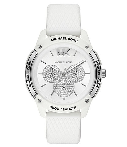 Michael Kors Women's Ryder Multifunction White Silicone Watch