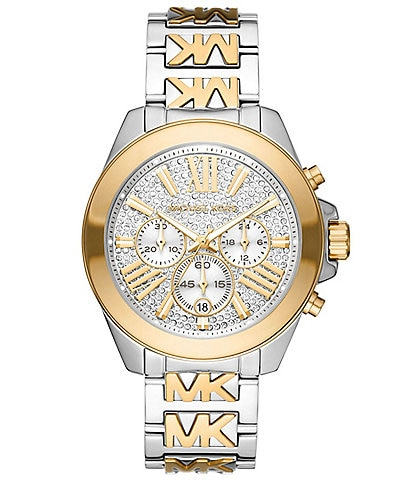 Michael Kors Wren Chronograph Two-Tone Stainless Steel Watch