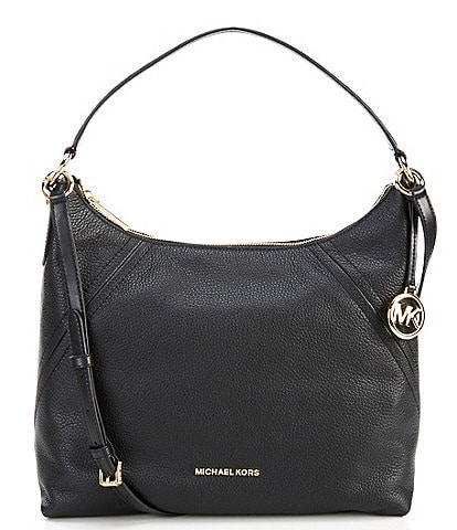 black and silver MK purse
