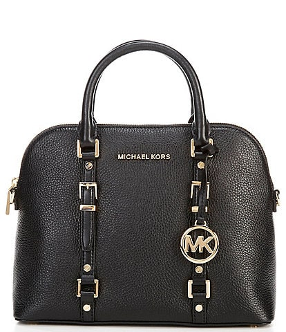 Michael Kors Bedford Legacy Medium Dome Pebble Leather Zip Satchel Bag