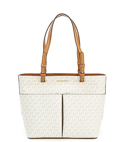 c731216eeb5d MICHAEL Michael Kors Bedford Medium Signature Top Zip Pocket Tote